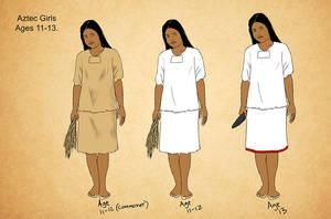 Aztec Postclassic Girls by Kamazotz