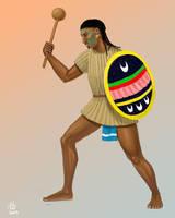 Otomi Warrior Sketch by Kamazotz