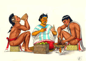 Mexica Merchants by Kamazotz