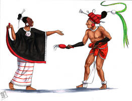 Maya Dancers by Kamazotz