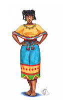 Zapotec Woman by Kamazotz