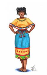 Zapotec Woman by Kamazotz