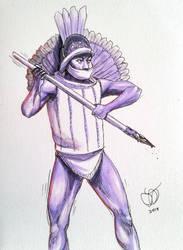 Colima Warrior by Kamazotz
