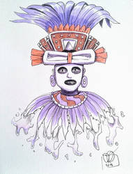 Pulque God of Teotihuacan by Kamazotz