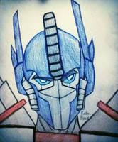 Optimus Prime (colored) by GhostFreak-Artz