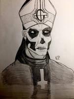 Papa Emeritus II by GhostFreak-Artz