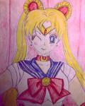 Sailor Moon (Colored) by GhostFreak-Artz