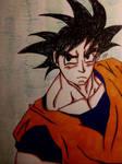Goku - Colored  by GhostFreak-Artz