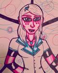 Pink and Blue  by GhostFreak-Artz