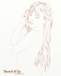 Female Sketch Red Head by SketchItUpStudio