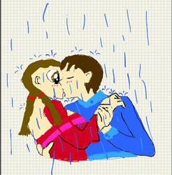 Kiss in the rain by floraxhelia153