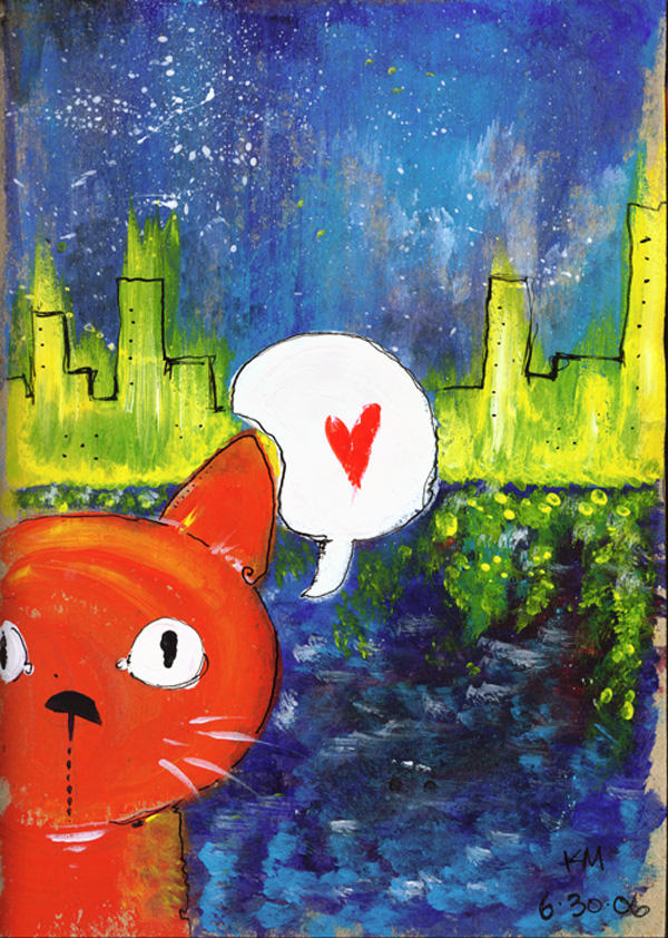 city kitty by dementedsquirrels
