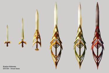 Sword Progression Concept by Kmalmsten