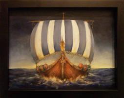 Viking Dragonship by jezviking