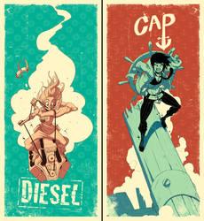 Diesel/Cap poster set by tysonhesse
