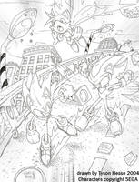 Sonic - Shadow: Speed Highway by tysonhesse