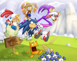 Sonic Team SuperHappyFunTime by tysonhesse