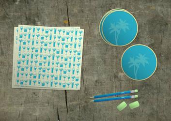 Tropica - drink coasters etc by vlahall