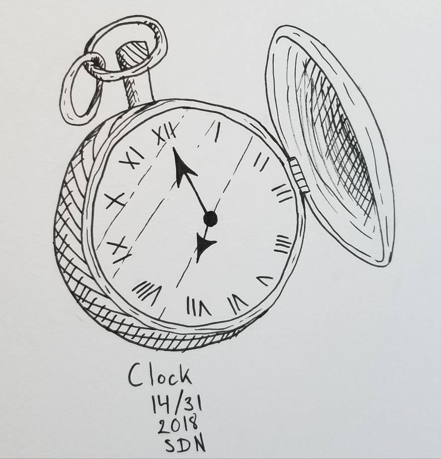 inktober clock by Sussi