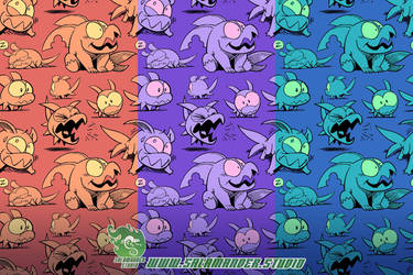 Land Shark - Repeating Pattern by SalamanderArt