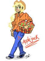 Human Applejack by Coin-Trip39
