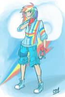 Human Rainbow Dash by Coin-Trip39