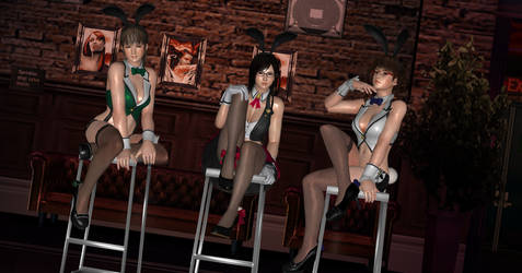 Bunnies at the Bar by Lhacrimosa