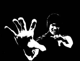 Bruce lee Stencil by Remeber-To-Blink