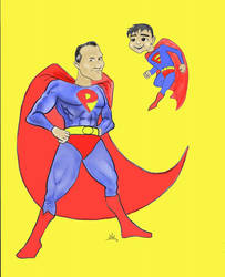 Super Papa and Elijah by Mighz
