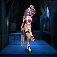 Janet (Quake Live fan art) by quake-goddess
