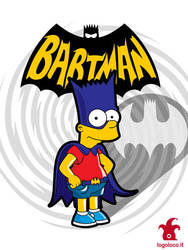 Bartman: the simpsons superheroes by logolocoadv