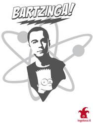 sheldon cooper and bart simpson: big bang theory by logolocoadv