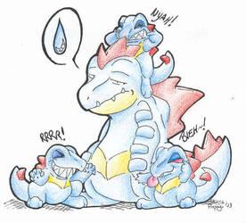 Pokemon have siblings too. XD by floppyneko