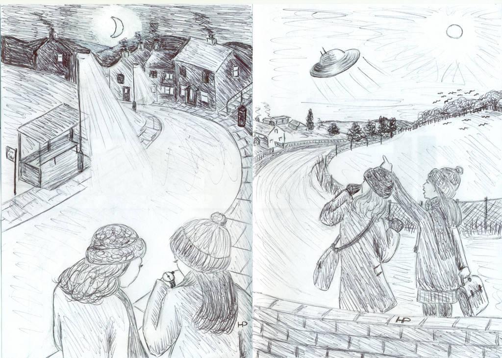 Abduction Scenarios 2 and 3 by MyAlienAbductionArt
