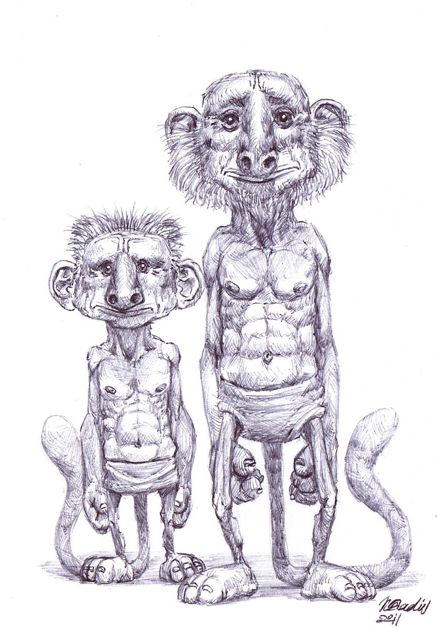 Two Creatures by K-Bladin
