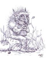 Troll on stone by K-Bladin