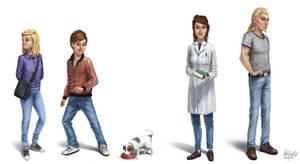 Tidspiraten main characters by K-Bladin