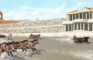 Horse race by K-Bladin
