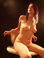 Seated nude no. 3 by bingeandpurge