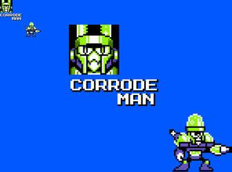 Corrode Man: A Robot Master Tennis by HommeAuxVisages