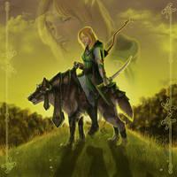 Wolfrider by CrescentMoon