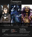 Art Commissions 2018 (USD + Points) by Virafiel