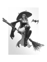Witch bw by An9reyART