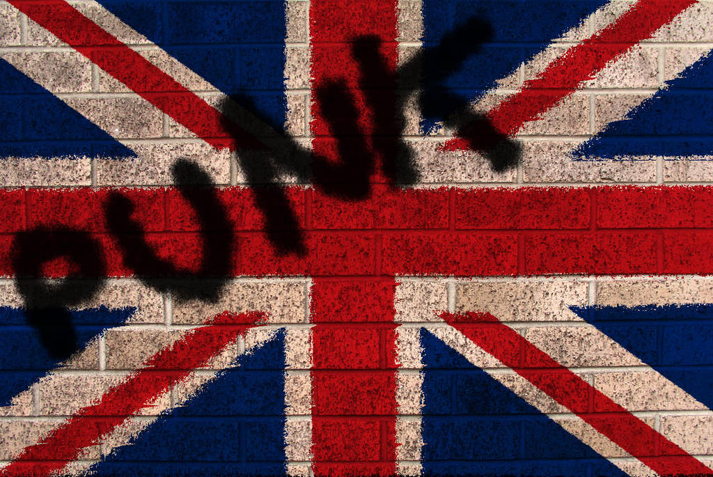 British flag on Brick by edit-express