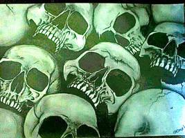 skulls by Schkoda