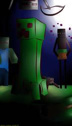minecraft at Night ( Collab) by MistressChief