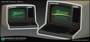 Retro Scifi Computer - 'Zenith Z90' by HannahDickson3D