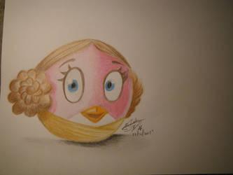 Stella Princess Leia - Star Wars Angry Birds by Arsiekdhol