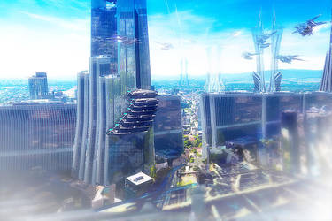 Quick Sketch Future City by Igor-Esaulov