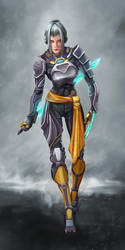 EotV Character 17 - Cyborg Samurai by Igor-Esaulov
